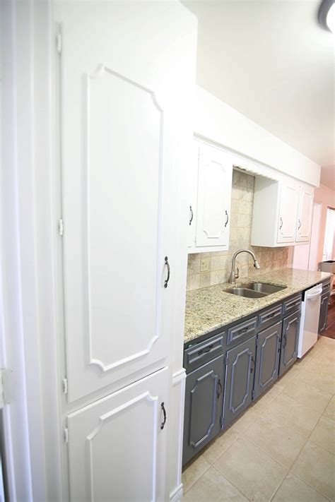 white and navy kitchen cabinets navy and white painted kitchen cabinets