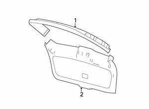 Lincoln Mkx Liftgate Trim Cover  Black  Charcoal  Lower
