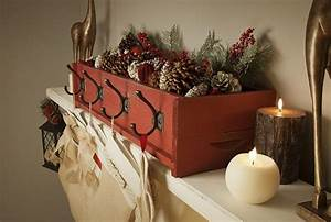 DIY Stocking Holder made from simple cedar box & a few