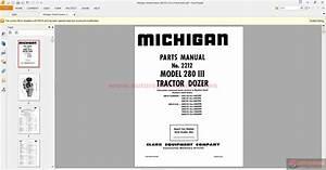 Michigan Wheel Dozers 280 Iii  2212 Parts Book