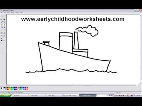 How To Draw A Boat Using Figure 8 by How To Draw A Cargo Ship Doovi