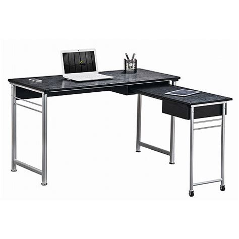 techni mobili desk w retractable table techni mobili retractable computer desk colors