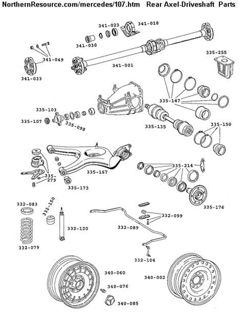 mercedes benz  sl slc roadster parts diagrams part numbers