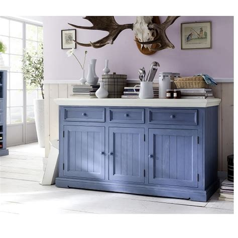 Sideboard Blue by Falcon Sideboard In Pine Wood Blue And White 25361