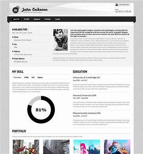 Photographer Cv Template 7 Creative Online Cv Resume Template For Web Graphic