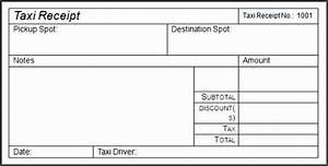 Receipt Template Xls 6 Editable Taxi Receipt Sampletemplatess Sampletemplatess