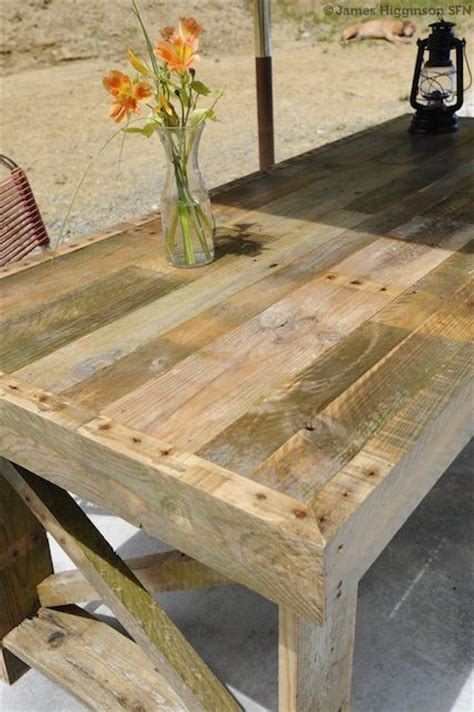 patio table made from pallets with