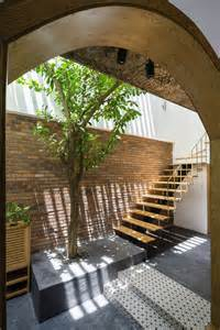 Tropical, House, Design, With, Interior, Courtyard