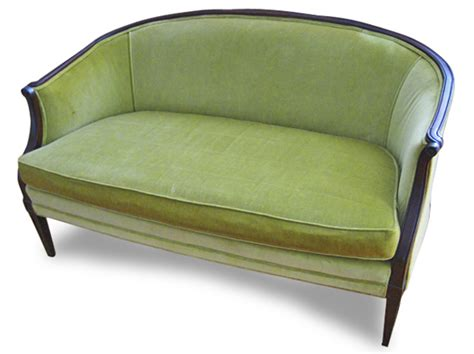 Green Settee by Vintage Apple Green Settee Mix