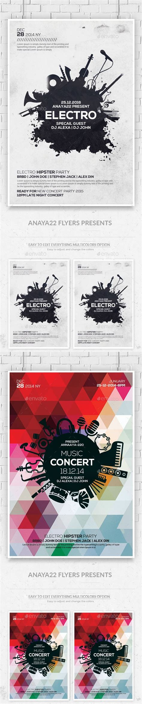 Download Graphicriver Electro Dj Party Flyer Template 6502526 by Electro Music Flyers Templates Psd Design Download Http