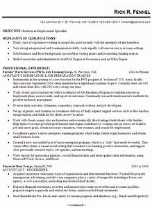 Resume Example For An Employment Specialist Susan