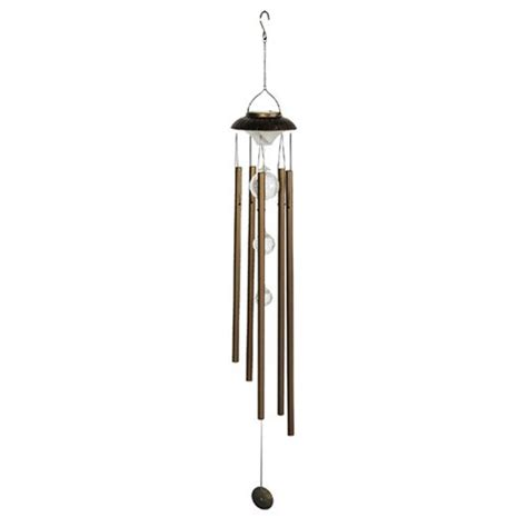 glass wind chime sunergy solar color changing lighted