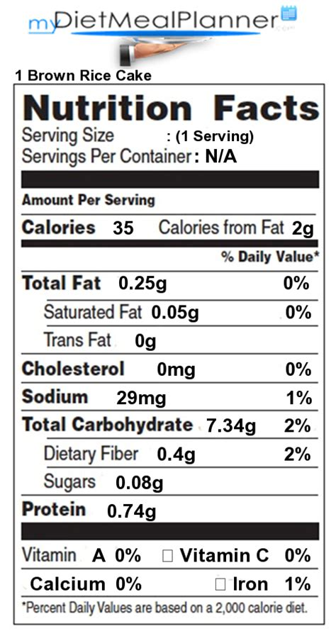 Nutrition facts Label   Pasta, Rice & Noodles 1   mydietmealplanner.com