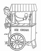 Cream Ice Coloring Getdrawings sketch template