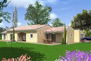 vente de plan de maison With exceptional modele de maison en l 4 photo terrasse maison provencale