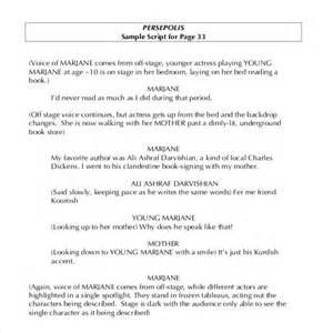 Script Writing Format Template