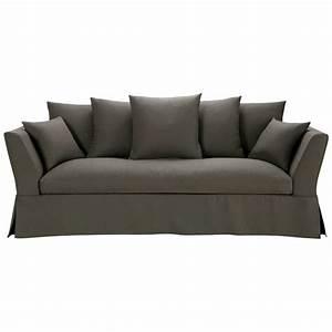3 Sitzer Sofa : sofa 3 sitzer aus leinen taupe hamilton hamilton maisons du monde ~ Frokenaadalensverden.com Haus und Dekorationen