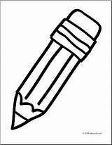 Pencil Clipart Coloring Clip Simple Words Basic Abcteach Banner Draw sketch template
