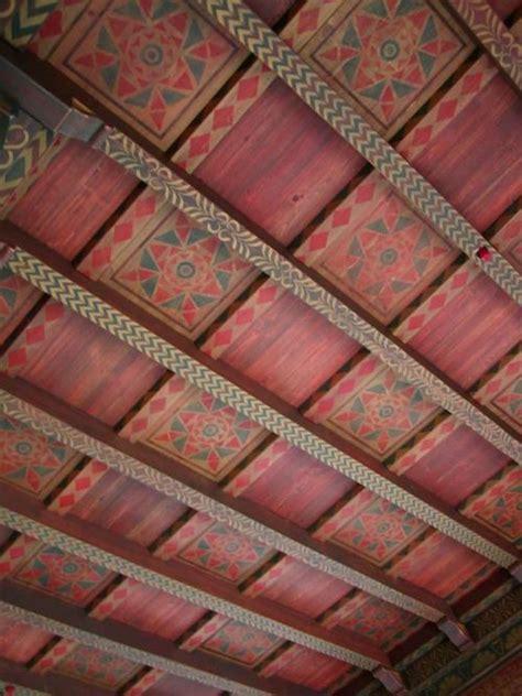 stenciled beam  panel ceiling beautiful walls  doug