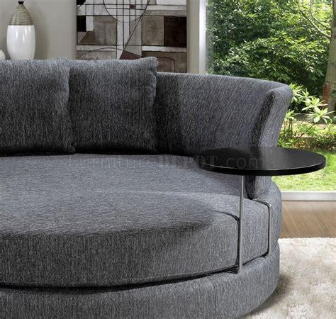 grey fabric modern adjustable circular sofa wend table