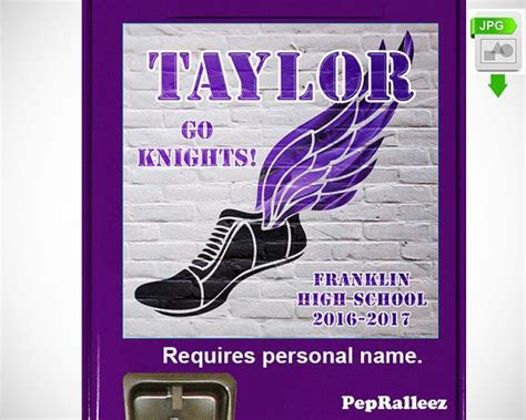 personalized school locker sign decoration cross contry
