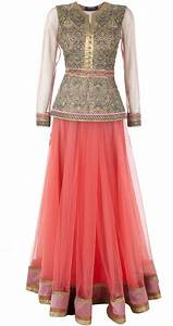 Long Skirt And Blouse Designs Indian Style - Chiffon Blouse Pink