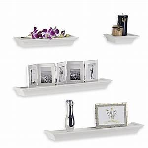 Melannco 4-Piece Ledge Set in White - Bed Bath & Beyond