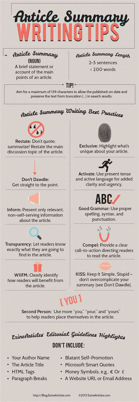 Writing Tips by Summary Writing Hints And Tips That Get Great Results