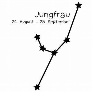 Sternzeichen Jungfrau Wandtattoo