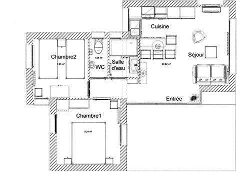 plan chambre 12m2 appartements location vacances tregastel vue mer