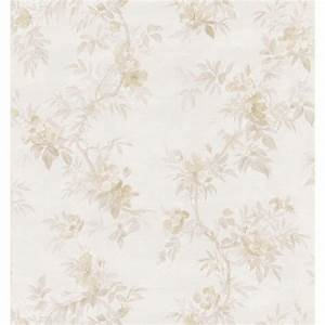 Brewster Bath Bath Bath III Neutral Wild Rose Wallpaper ...