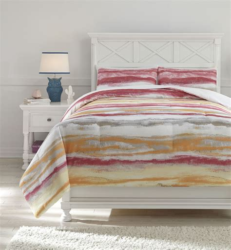tammy pink and orange full comforter set from ashley