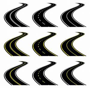 7 Road Vector Icon Images - Curved Road Clip Art, Cartoon ...