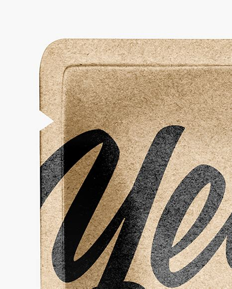Easily change the pouch colors and add your own. Kraft Paper Stand-up Pouch Mockup in Pouch Mockups on ...