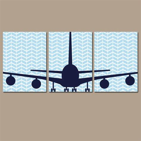 Decorate baby's room with cheerful decor that doesn't cost a fortune. BABY BOY Nursery Wall Art Airplane Wall Art Child Plane Theme