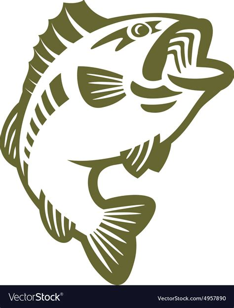 Images Of Bass Fish Bass Fish Logo Royalty Free Vector Image Vectorstock