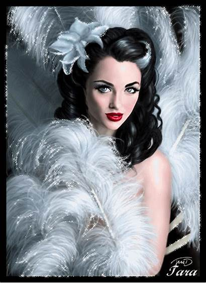 Woman Glitter Painting Feathers Femme Centerblog Frauenbild