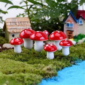 50pi U00e8ces  Lot Champignons En R U00e9sine F U00e9e De Jardin Paysage