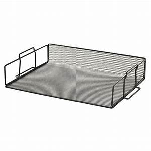 sandusky black metal mesh stackable letter tray school With black mesh letter tray