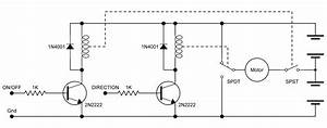 using motor bridges With pwm motor control circuit schematic diagram with forward reverse and break operation