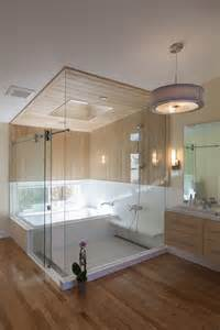 Soaking Tub With Shower by An Ofuro Soaking Tub And Shower Combination For A