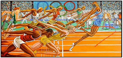 ernie barnes paintings for now and then ernie barnes