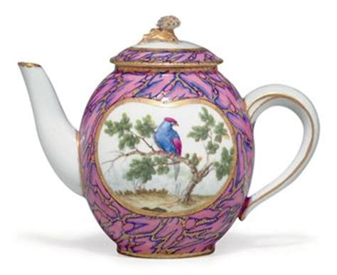 a sevres porcelain rose marbre teapot and cover theiere