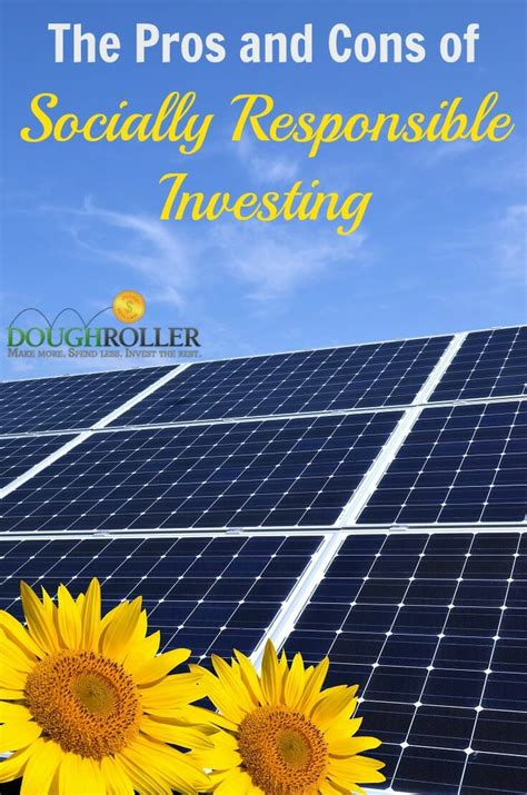 The Pros And Cons Of Socially Responsible Investing