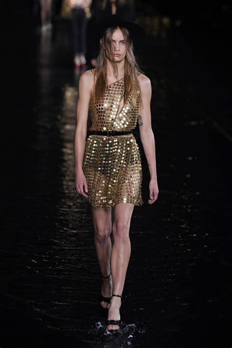 paris fashion week saint laurent spring  collection