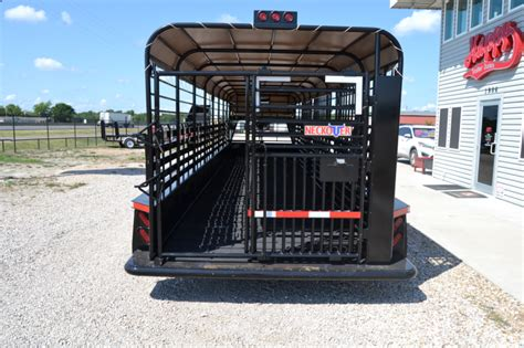 """Rubber truck matting and rubber cargo trailer mats will protect your truck and trailer from scratches, dings, and dents caused by loading and unloading, or cargo shifting during transport. 2016 Neckover 6'8""""x32' Triple Axle Stock Trailer w ..."""
