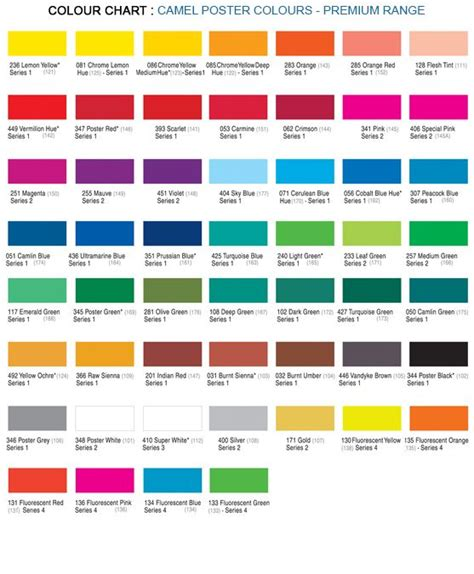 Color Shades Of by 12 Shade Poster Colours Premium Poster Colours Kokucamlin