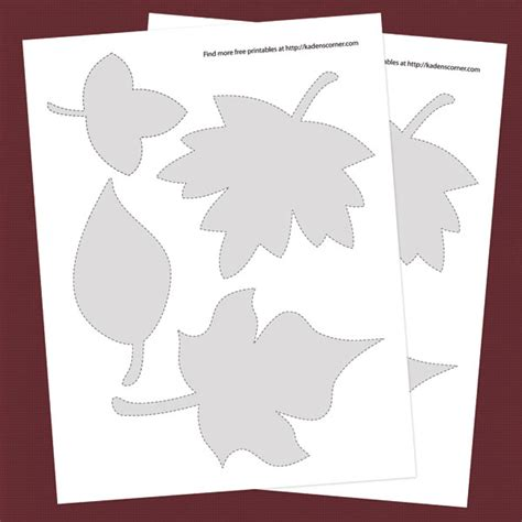 l words and pictures printable cards leaf legs patterns of leaves free patterns