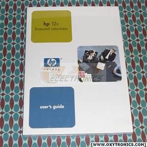 Hp 12c Calculator User U0026 39 S Guide Manual Hp Oem New