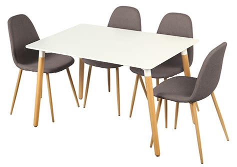 table de cuisine 4 chaises table 4 chaises otis blanc chene